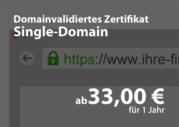 Domain-Validiertes – Single Domain Zertifikat